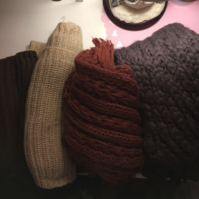 Various Winter scarves