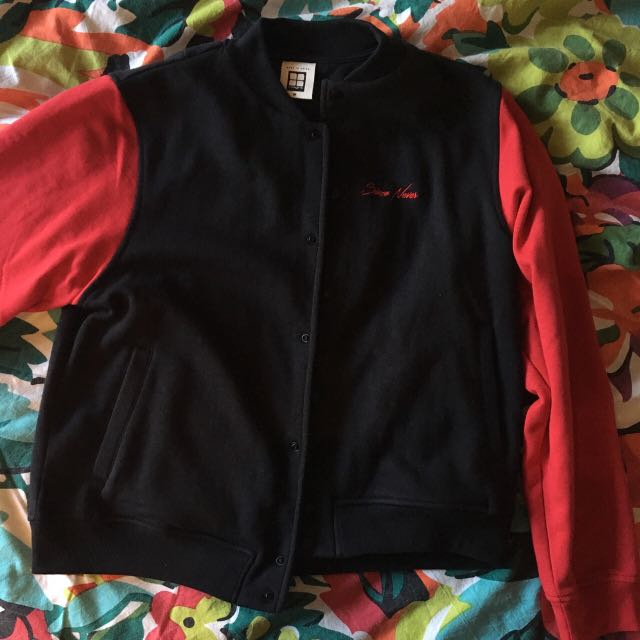 Varsity Jacket with Embroidery
