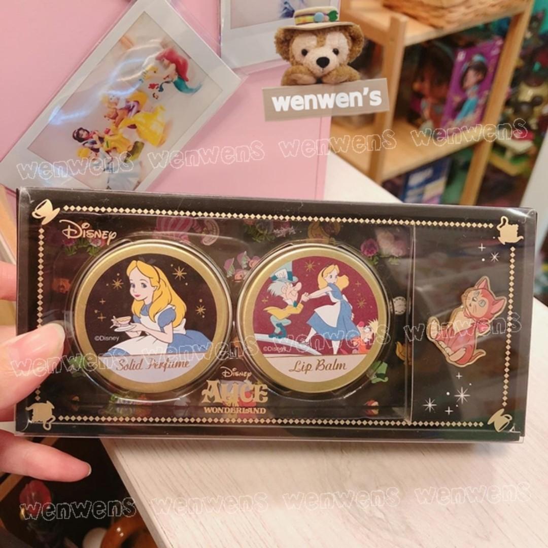 【Wenwens】日本帶回 迪士尼 愛麗絲 ALICE 帽客 瘋帽 固體 香水 保濕 身體乳 別針 (3入一組)
