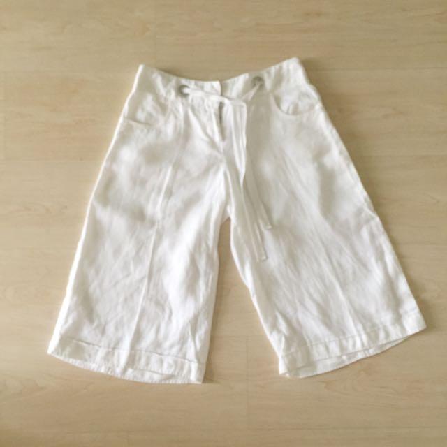 White Linen Cullotes