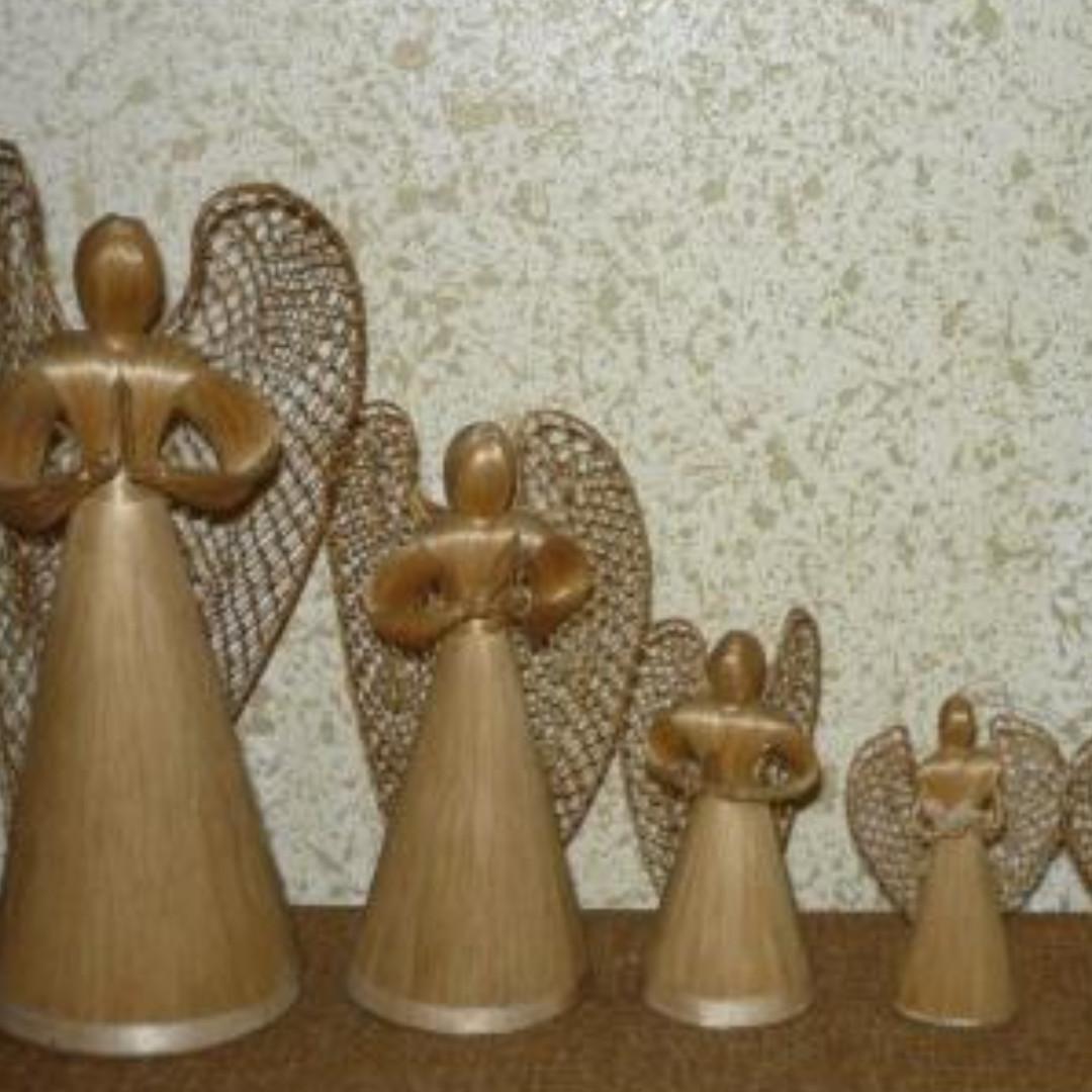 Xmas decor: native angels set