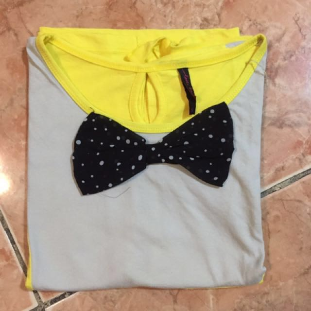 Yellow Bayo Crop Top