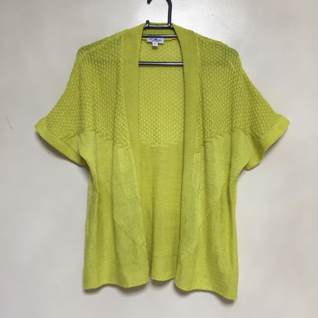 Yellow green knitted sweater