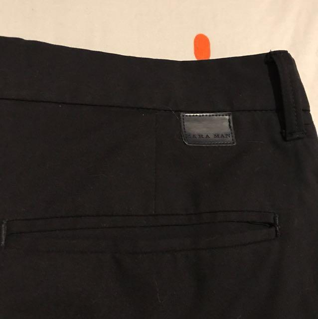 Zara Man Navy Slim Fit Formal Trousers