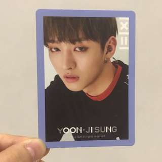 Yoon Jisung photocard// trade for Ong seongwoo photocard