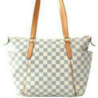 AUTHENTIC LOUIS VUITTON TOTALLY IN DAMIER AZUR -  PM SIZE