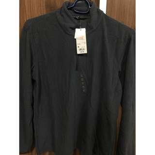 Uniqlo Heattech mens Fleece half-zip jacket gray M BNWT