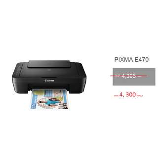 CANON PIXMA E470 Affordable All-In-One Printer and Scanner With WiFi
