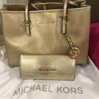 mk bag and wallet one set