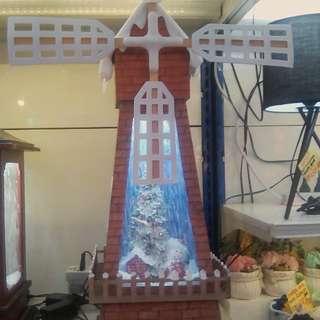 Snowing windmill