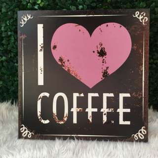 Large I ❤️Coffee Wooden Wall Decor