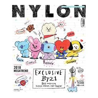 [ MY GO ] NYLON Magazine 2018.1 < BT21 Special Edition >