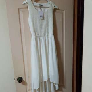 White Lace Dress (High Low)