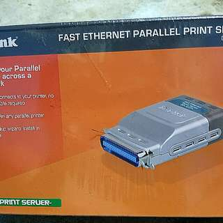 D-link ( Fast ETHERNET PARALLEL PRINT SERVER ) Dp-301p+