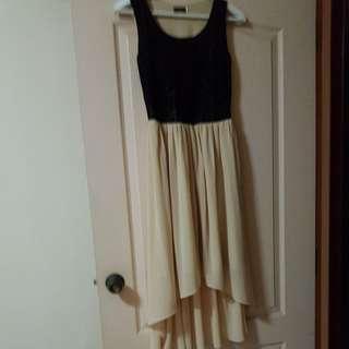 Black Lace Dress (High Low)