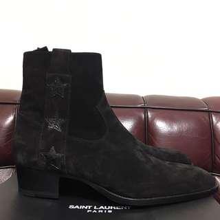 全新男裝Saint Laurent Paris suede star boot Sz 42.5 new ( 原價$9250)
