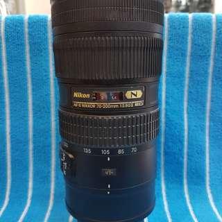 Nikon 70-200/2.8 G VR II  VR