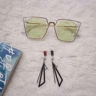 Kotani Eye Sunglasses & Yellic Earrings