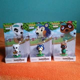 BNIB Nintendo Amiibo Animal Crossing   K. K. / Mabel / Tom Nook  Figures WiiU 3DS