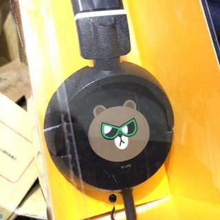 LINE熊大耳機 耳罩式
