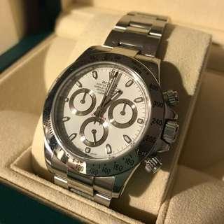Rolex Daytona 116520 白色手錶