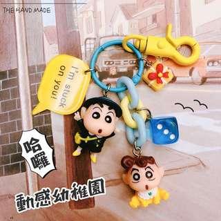 DIY 蠟筆小新動感超人鑰匙圈吊飾