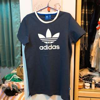 Originals 深藍原領長版洋裝