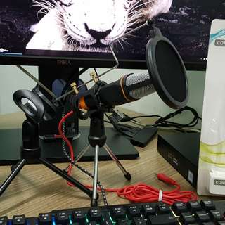 Desktop Condenser Microphone with Extra Tripod