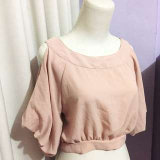 Multi Baby Pink Cut Blouse