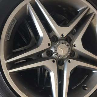 "CLA Mercedez Benz OEM 18"" AMG rims with tyres"