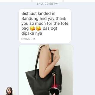 TESTIMONI BLACK TOTE BAG😍