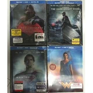 Batman Vs Superman, Man Of Steel, The Dark Knight Rises, Wonder Woman Blurays Target Exclusives