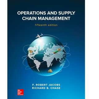 Operations and Supply Chain Management 15th Edition
