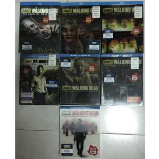 The Walking Dead Season 1 - 7 Bestbuy Exclusives Blurays with Lenticular Slips