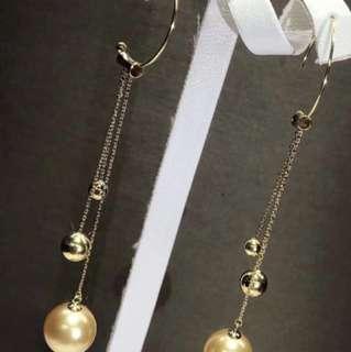 18K 黃金 南洋珍珠耳線
