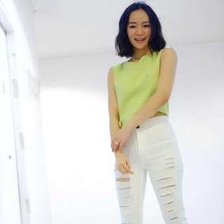 Zara inspired ripped jeans