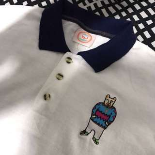 Polo Shirt With Patches