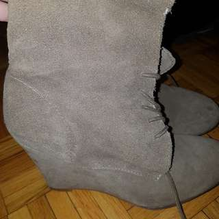 Zara Suede Booties Size 7.5