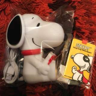 SNOOPY 枱燈(連USB charger) + 行李牌