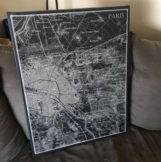 Old Paris canvas frame