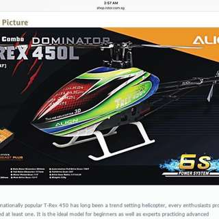 Align TREX 450L Electric r/c helicopter