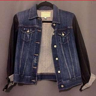 BR denim jacket with matte Sleeves