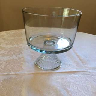 Glass Pedestal Bowl