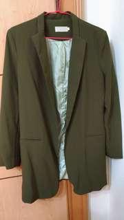 墨綠西裝外套