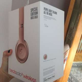Rose Gold wireless Dr Dre headphones