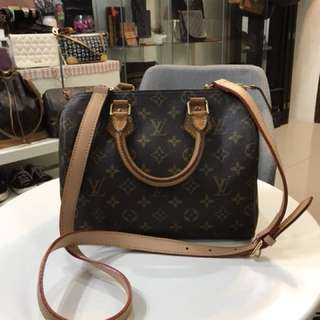 Authentic Louis Vuitton Speedy 25 With Long Strap
