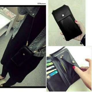 多功能手機包*時尚黑(可放5.5吋手機)