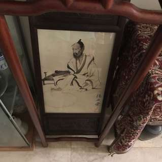 A Framed man Painting