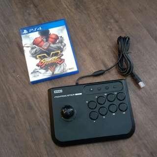 Hori Fighting Stick Mini for PS4 + PS4 Street Fighter V
