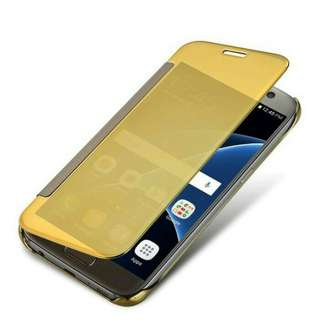 Flip cover mirror seri A5 2017 only gold
